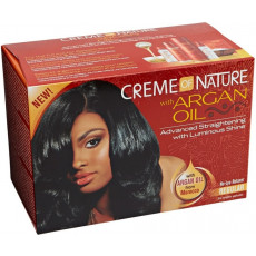 Creme of Nature Argan Oil Advanced Straightening Kit -Fijn Haar