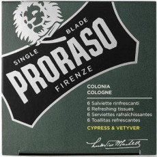 Proraso Cypress & Vetyver Refreshing Tissues