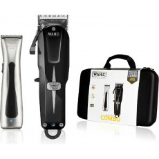 WAHL Combo Cordless Super Taper Zwart en Beret Chrome Trimmer